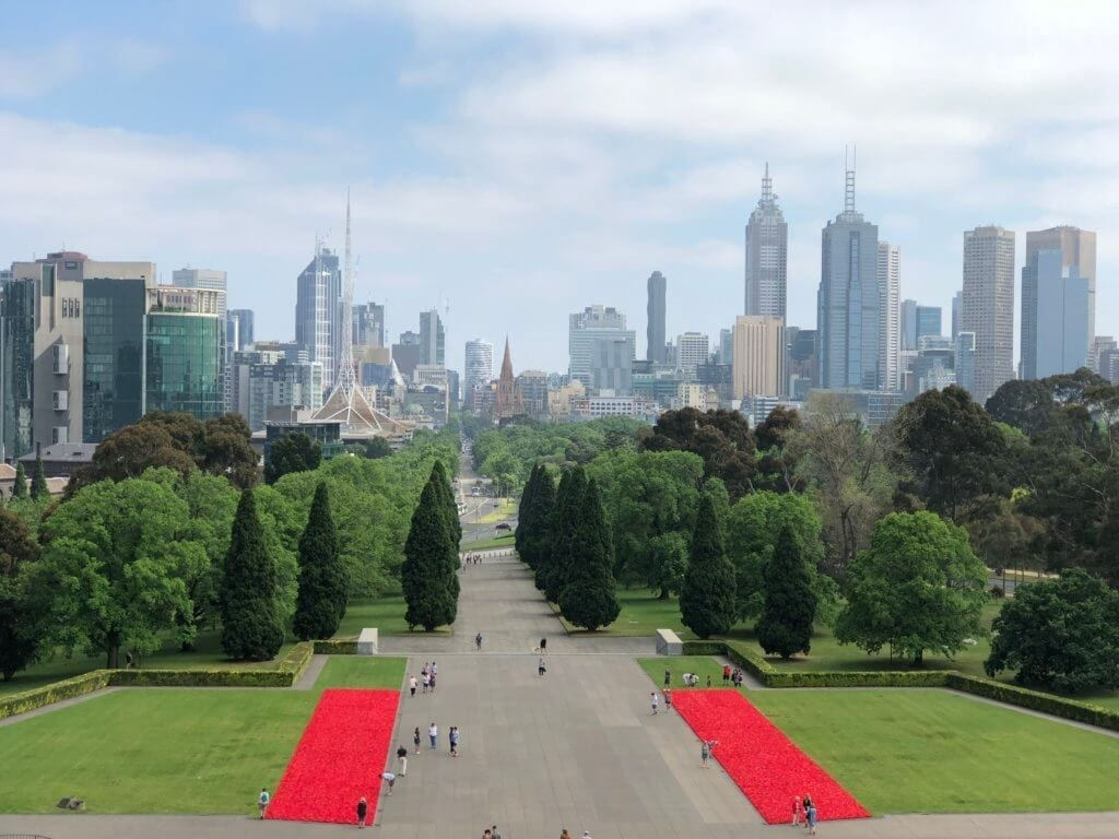 View of the Shrine of Remembrance